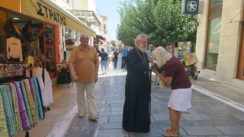 Ποιμαντική επίσκεψη Σύρου Δωρόθεου στη χώρα της Άνδρου