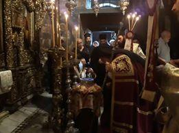 Πάτμος: Συνεχίζονται οι εορτασμοί επί τη ελεύση της Αγίας Κάρας του Γέροντα Αμφιλόχιου
