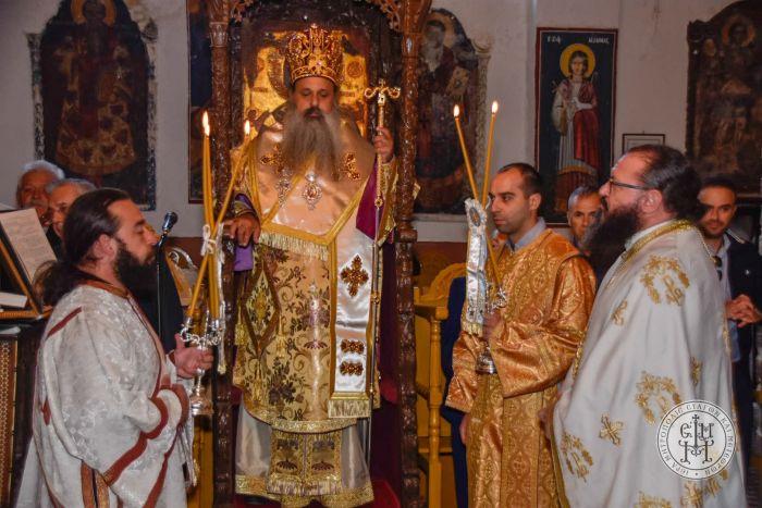 Ο Μετεώρων Θεόκλητος στο Πανηγύρι του Αγίου Μάμαντος στο Χαλίκι