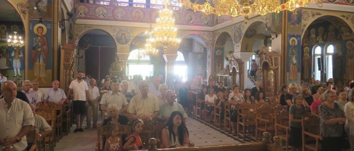 Η Πρώτη Αρχιερατική Θεία Λειτουργία του Νέου Εκκλησιαστικού Έτους στην Ενορία της Αγίας Παρασκευής Λαμίας
