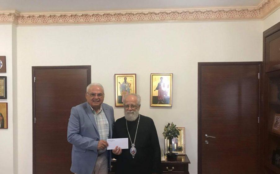 Χρηματική εισφορά στον Αντικαρκινικό Σύνδεσμο Κύπρου