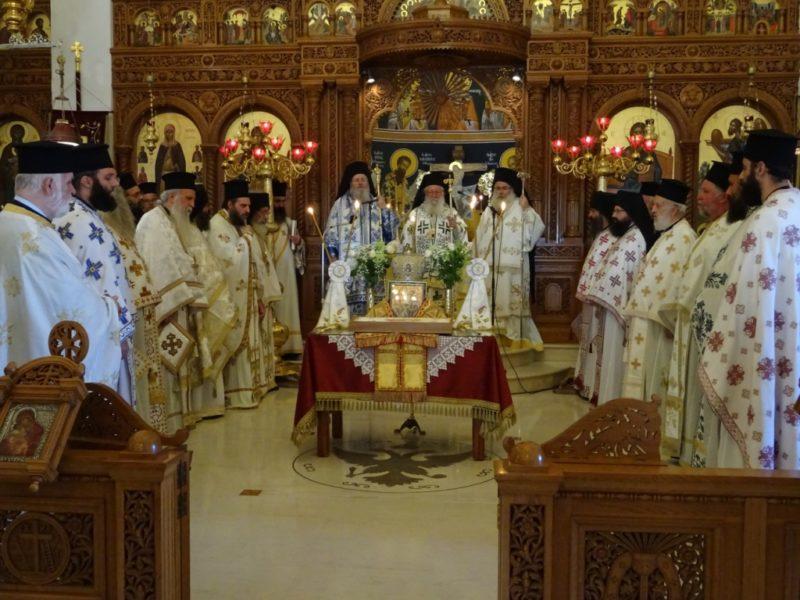Ο Κυδωνίας Δαμασκηνός στο διετές Αρχιερατικό Μνημόσυνο του αοιδίμου Μητροπολίτου Ιεραπύτνης και Σητείας κυρού Ευγενίου