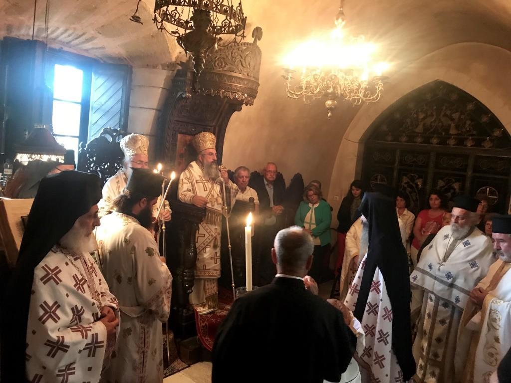 Με λαμπρό Αρχιερατικό Συλλείτουργο πανηγύρισε η Ιερά Μονή Τοπλού Σητείας