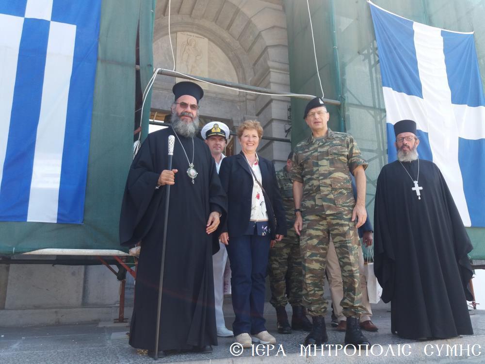 Η επίσκεψη της Υφυπουργού Αμύνης στον Πανορμίτη Σύμης