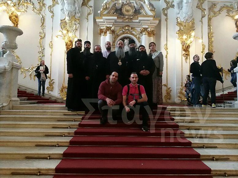 Ο Μετεώρων Θεόκλητος για προσκύνημα στην Αγία Πετρούπολη με Βαρλαμίτες Μοναχούς