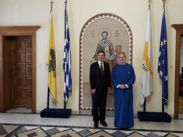 Δυο νέοι πρέσβεις σε εθιμοτυπικές συναντήσεις με τον Αρχιεπίσκοπο Κύπρου