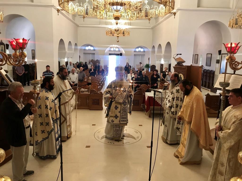 Αρχιερατική Θεία Λειτουργία και μνημόσυνο στον Ι. Ναό Αγίας Φωτεινής Ιεράπετρας