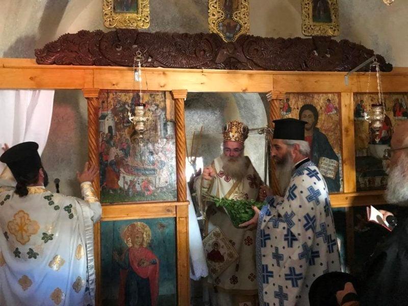 Θυρανοίξια και Αρχιερατική Θεία Λειτουργία στον Ναό Παναγίας Καρυδιανής Ενορίας Μύθων