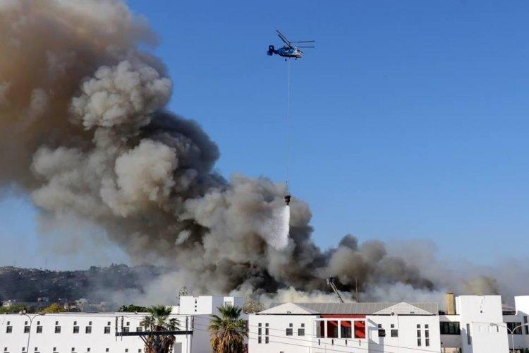 Φωτιά ΤΩΡΑ Ηράκλειο - Μάχη με τις φλόγες στο Πανεπιστήμιο Κρήτης