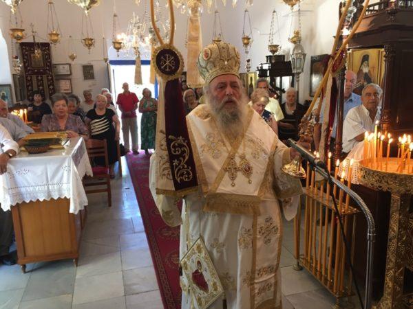 Ο Παροναξίας Καλλίνικος στον Πανηγυρίζοντα Ναό Γεν. Θεοτόκου (Θεοσκέπαστης) Νάξου