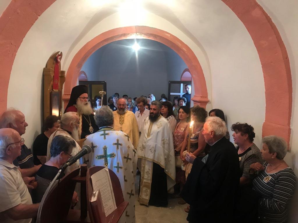 Αρχιερατικός Εσπερινός στον πανηγυρίζοντα Ιερό Ναό Αγίας Σοφίας Αρμένων Σητείας