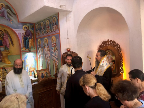 Θεία Λειτουργία στην μνήμη του Αγίου Ευσταθίου στο Ιερό Παρεκκλήσιο του Αγίου Ευτυχίου