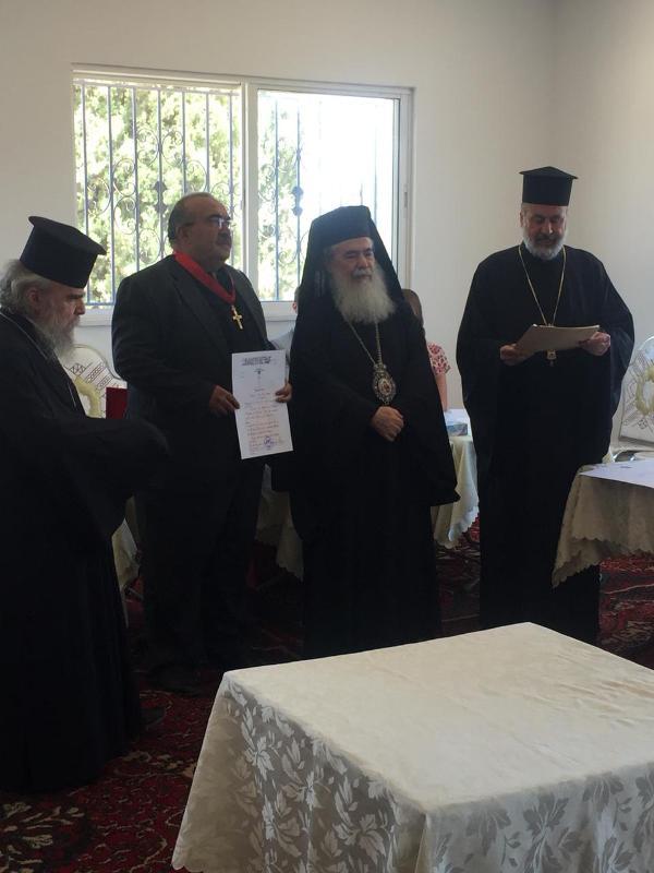 Εγκαίνια αθλητικής ακαδημίας στο Κάρακ από τον Πατριάρχη Ιεροσολύμων