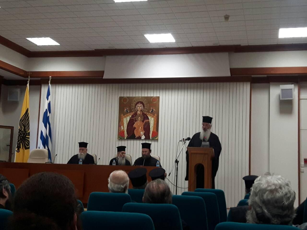 Ομιλία Αλεξανδρουπόλεως Άνθιμου στους κληρικούς της Ι.Μ. Νέας Κρήνης και Καλαμαριάς