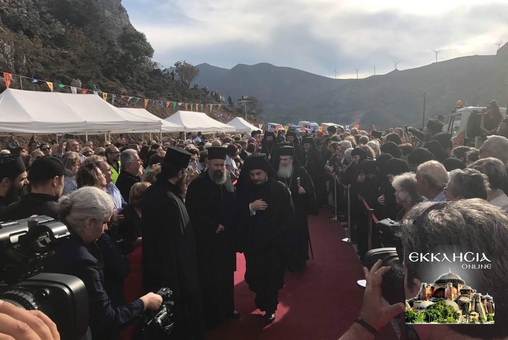 Πατριάρχης ΙεροσολύμωνΘεόφιλος θυρανοίξια Οσίου Νικηφόρου