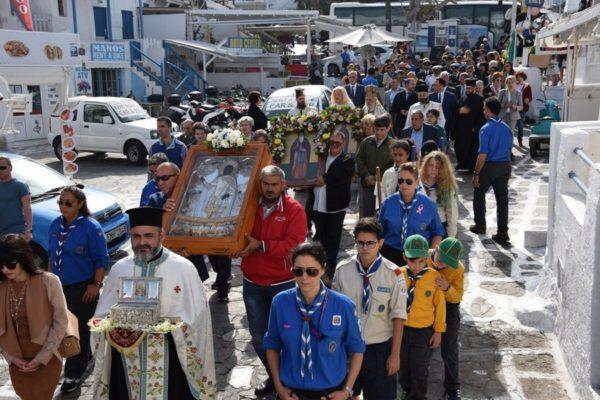 Άγιος Αρτέμιος: Πανδήμως οι Μυκόνιοι τίμησαν τον Πολιούχο τους