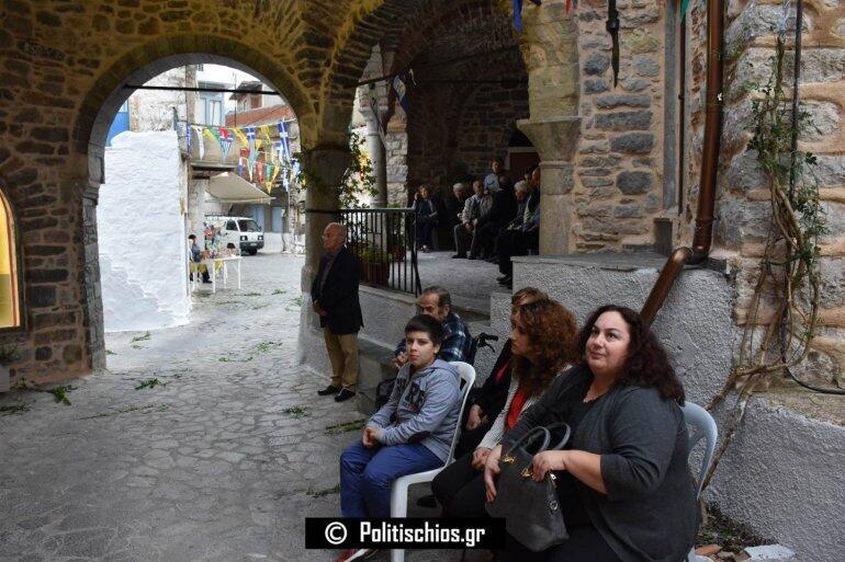 Επέστρεψε από τα Ιεροσόλυμα στη Χίο για να λειτουργήσει στην Αγία Παρασκευή