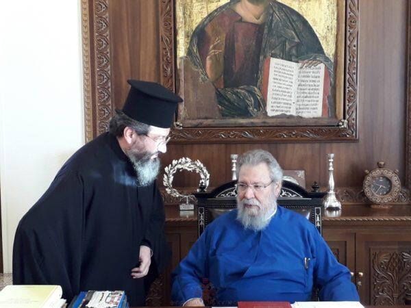 Ο Αρχιεπίσκοπος Κύπρου και πάλι στα καθήκοντα του