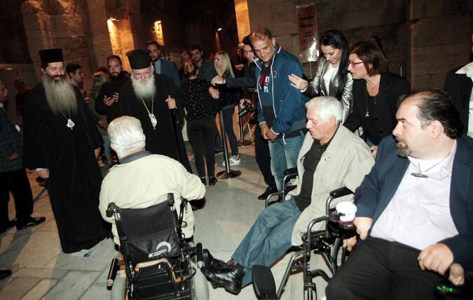Ο Αρχιεπίσκοπος στην μουσική εκδήλωση που διοργάνωσε ο Πανελλήνιος Σύλλογος Παραπληγικών