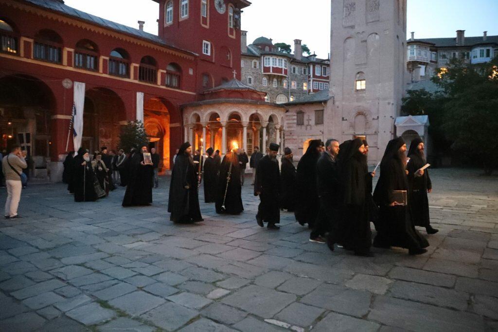 Άγιο Όρος: Λαμπρή πανήγυρη στο Βατοπαίδι για τον Αγιο Ευδόκιμο