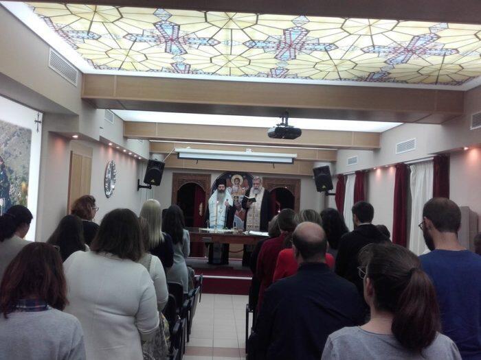 Αγιασμός έναρξης Σεμιναρίου Επιμόρφωσης Κατηχητών από τον Επίσκοπο Θεσπιών