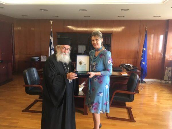 Ο Σινά Δαμιανός συναντήθηκε με την Κατερίνα Παπακώστα