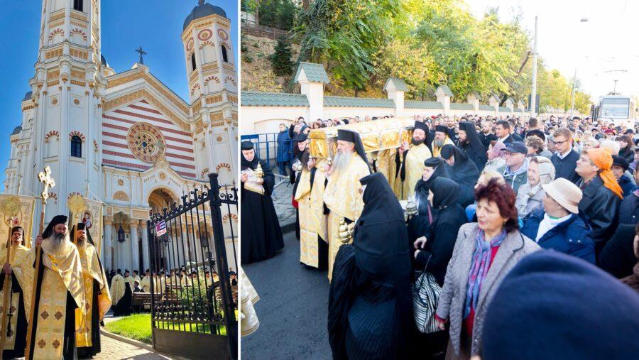 Άγιος Δημήτριος - Ρουμανία ΤΩΡΑ: Ξεκίνησαν οι εορτασμοί παρουσιά χιλιάδων πιστών