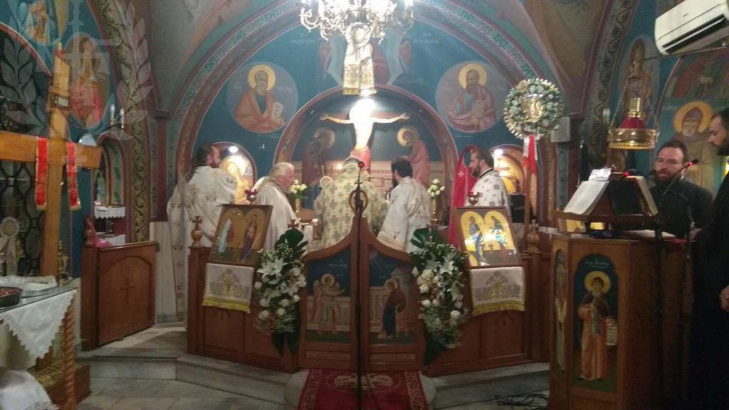Αρχιερατική Θεία Λειτουργία στον πανηγυρίζοντα Ναό Αγίου Φιλίππου του διακόνου