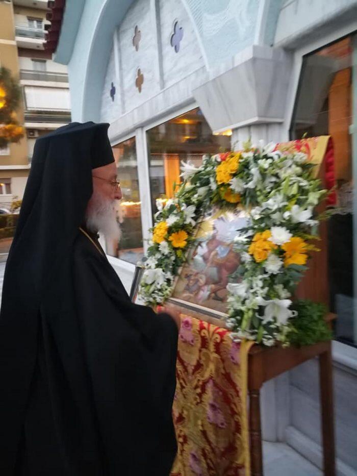 Άγιος Δημήτριος: Πανηγυρικός Εσπερινός στην Τρίπολη