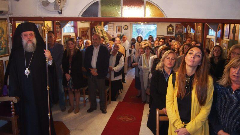 Ευαγγελιστής Λουκάς: Κηφισίας Κύριλλος και πλήθος πιστών στον Εσπερινό στις Αδάμες