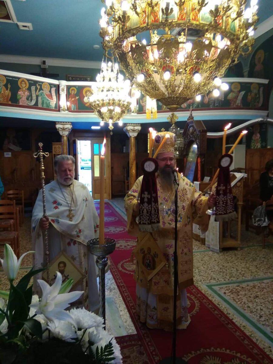 Αρχιερατική Θεία Λειτουργία και Αρχιερατικά Μνημόσυνα στον Ενοριακό Ναό Κοιμήσεως Θεοτόκου Νυδρίου