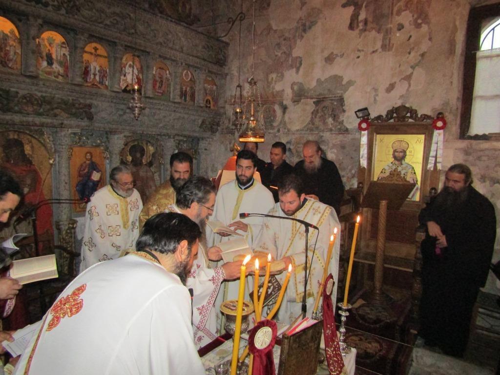 Η αρχαιοπρεπής Θεία Λειτουργία του Αγίου Ιακώβου στην Μονή Αγίου Ιωάννου Προδρόμου Λιβάδι Καρυάς