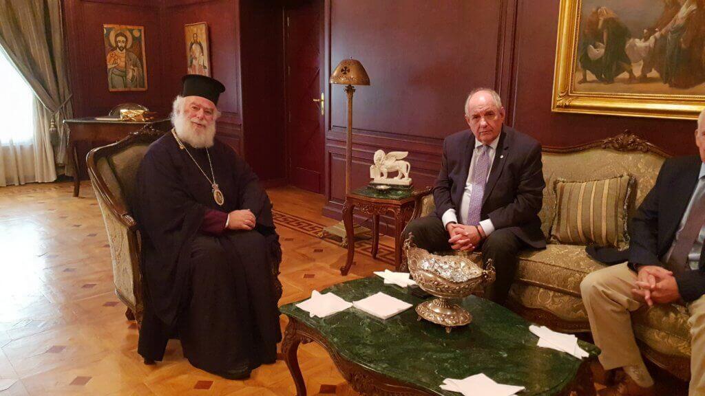 Την ελληνική κυβέρνηση ευχαρίστησε ο Πατριάρχης Αλεξανδρείας Θεόδωρος
