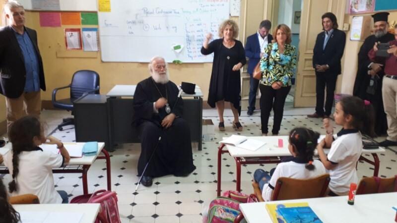 επίσκεψη Πατριάρχη Αλεξανδρείας στα Ελληνικά εκπαιδευτήρια Καΐρου