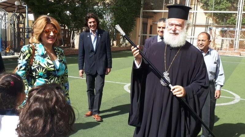 επίσκεψη Πατριάρχη Αλεξανδρείας Ελληνικά εκπαιδευτήρια Καΐρου