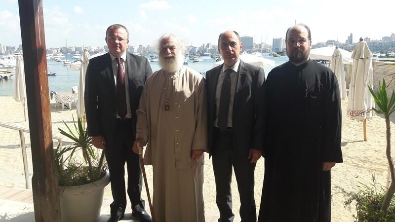 Πατριάρχης Αλεξανδρείας Θεόδωρος και Πρέσβης Ουκρανίας