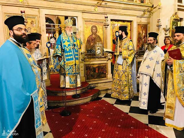 Κερκύρας Νεκτάριος : Η Παναγία σώζει το Έθνος μας διαχρονικά