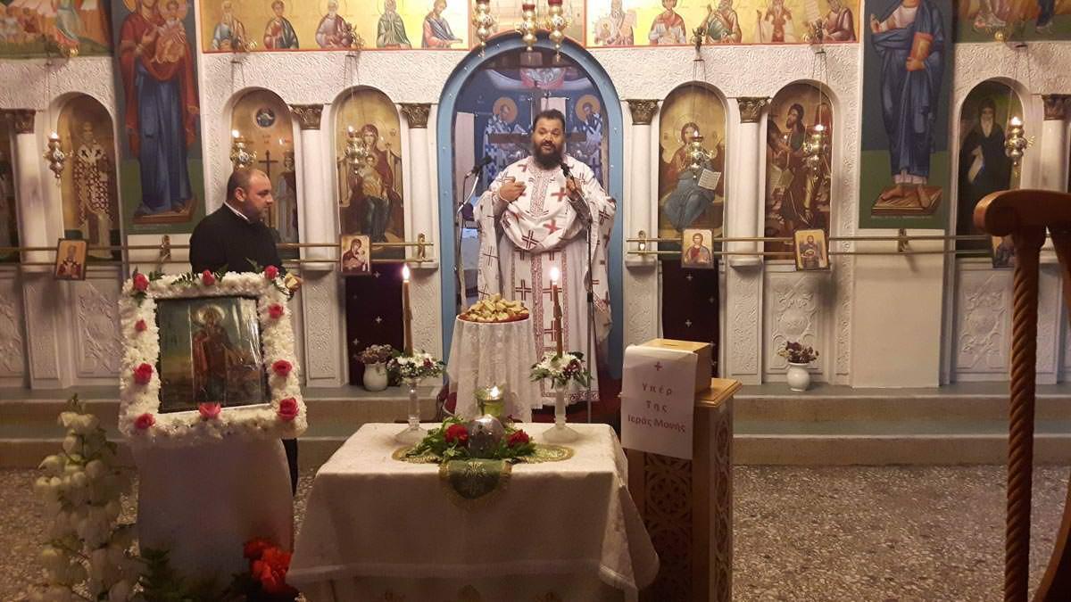 Λαμπρή Υποδοχή της Τιμίας Κάρας Αγίας Μαρίνης Θεολόγο Διρφύων