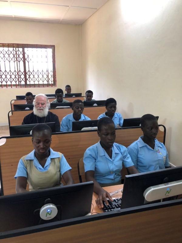 Πατριάρχης Αλεξανδρείας εγκαινιάζει Τμήμα Πληροφορικής Ορθόδοξη Τεχνική Σχολή Γκάνα