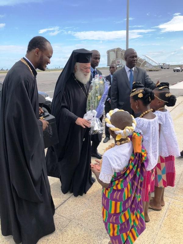 Πατριάρχης Αλεξανδρείας Θεόδωρος στην Ακτή Ελεφαντοστού άφιξη