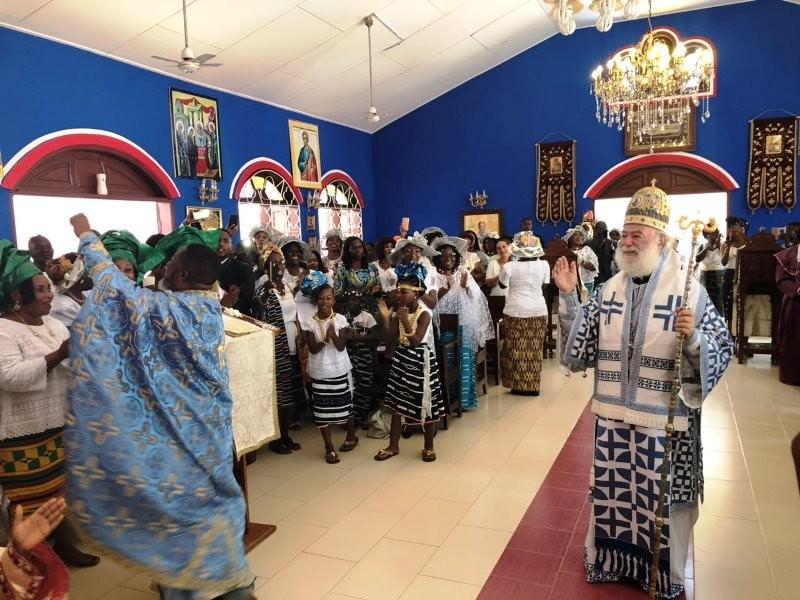 Πατριάρχης Αλεξανδρείας Θεόδωρος στην Ακτή Ελεφαντοστού Λειτουργία