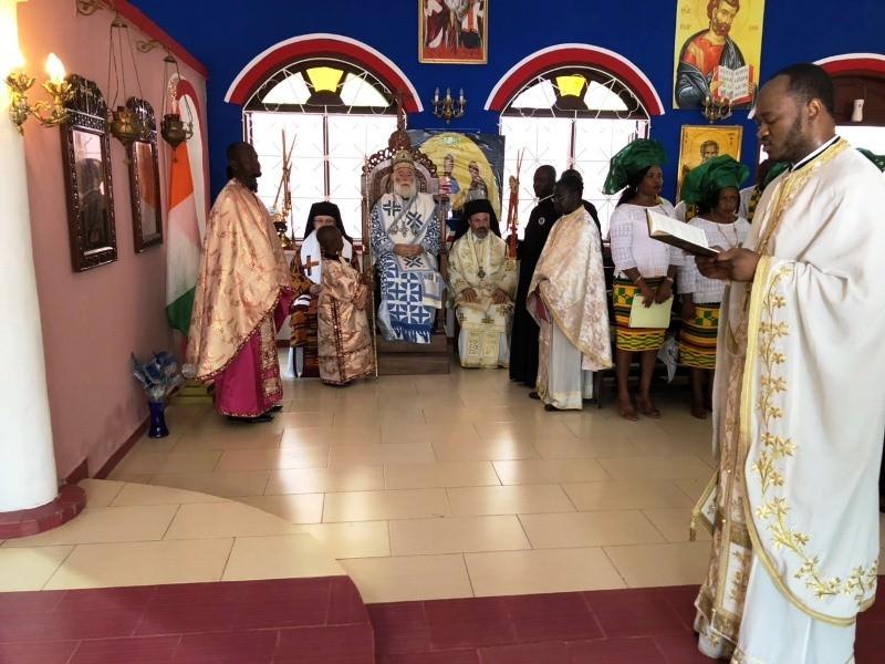 Πατριάρχης Αλεξανδρείας στην Ακτή Ελεφαντοστού Λειτουργία
