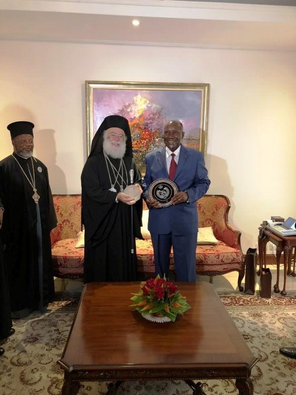 Πατριάρχης Αλεξανδρείας Προεδρικό Μέγαρο Ακτής Ελεφαντοστού