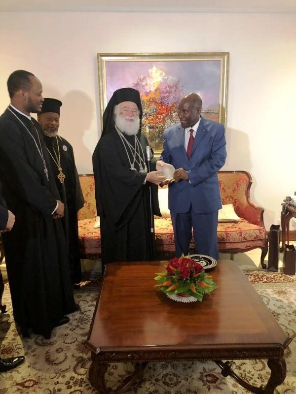Πατριάρχης Αλεξανδρείας στο Προεδρικό Μέγαρο της Ακτής Ελεφαντοστού 2018