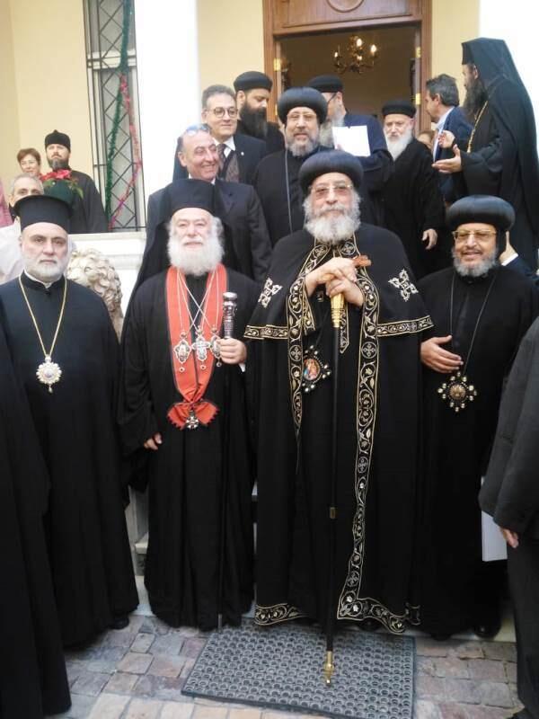 Πατριαρχείο Αλεξανδρείας Συνάντηση με τον Κόπτη Πατριάρχη Χριστούγεννα