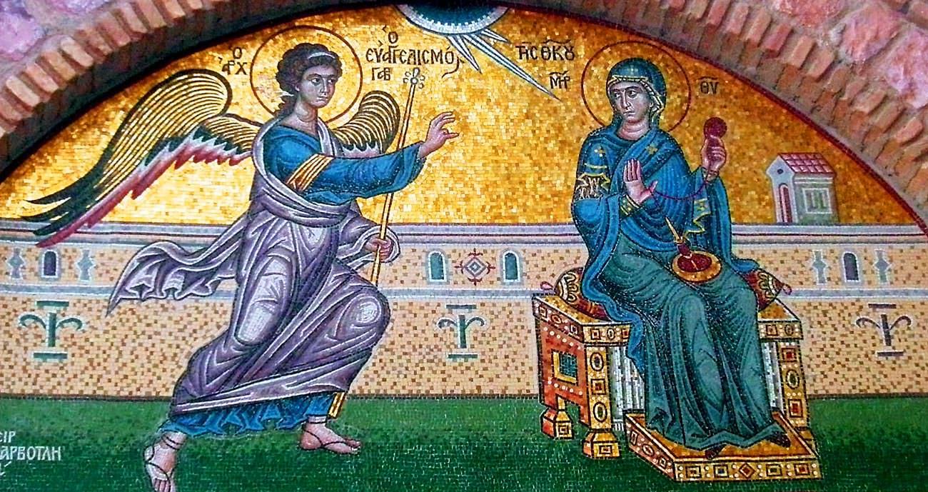 Ευαγγελισμός της Θεοτόκου τοιχογραφία