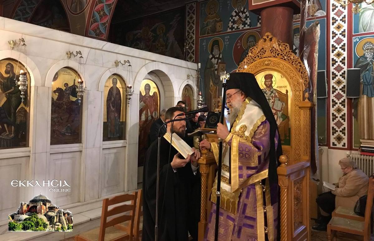 Προηγιασμένη Θεία Λειτουργία Ιερός Ναός Αγίας Βαρβάρας Μεταμόρφωση 2019