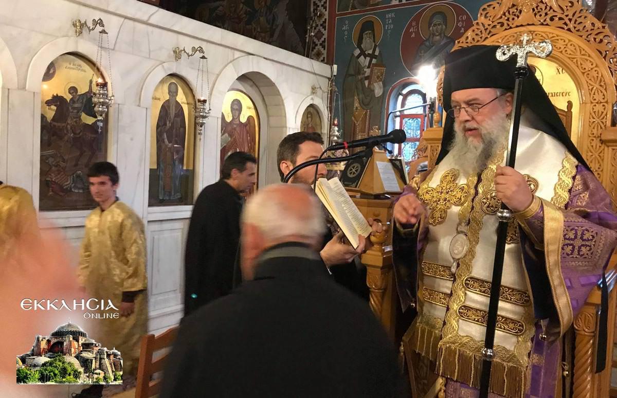Θεία Λειτουργία Ναός Αγίας Βαρβάρας Μεταμόρφωση 2019