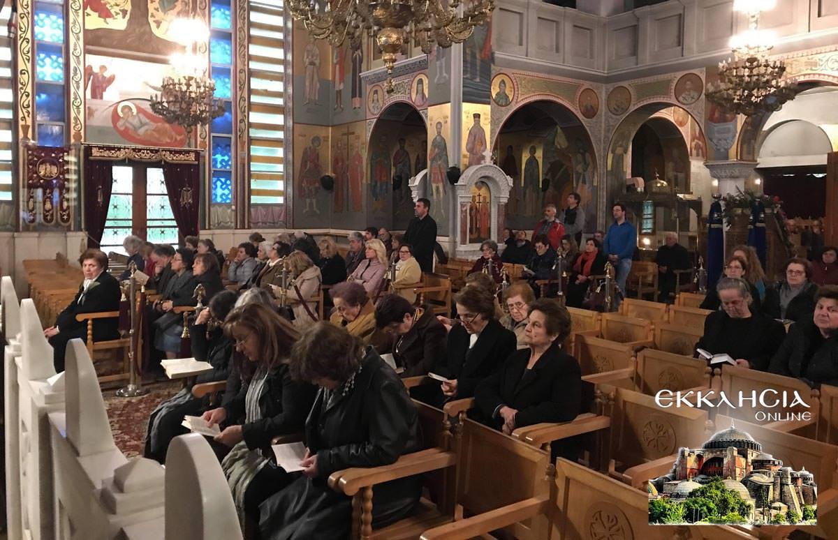 Ακολουθία Μεγάλου Κανόνος στον Ιερό Ναό Πέτρου και Παύλου Πεύκης 2019