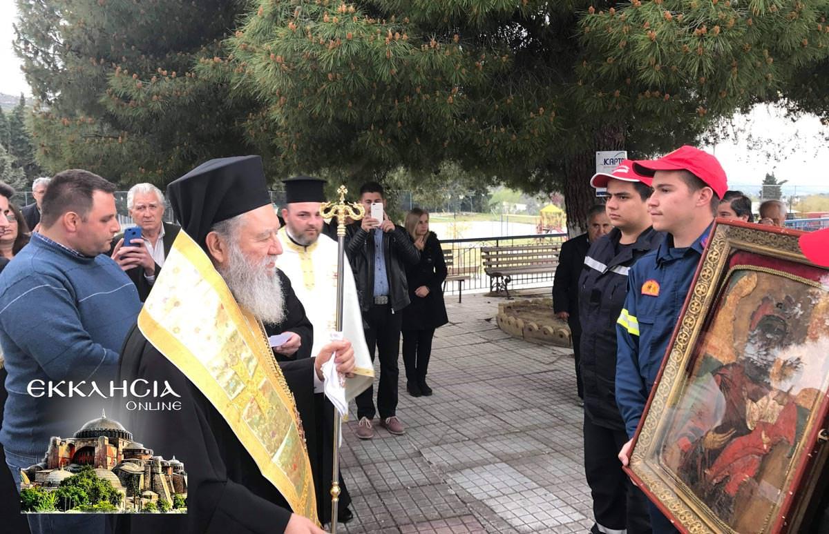Υποδοχή Θαυματουργή Ιερά Εικόνα Παναγίας Εύβοια 2019